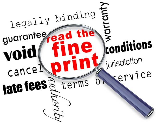 Business Loan Fine Print