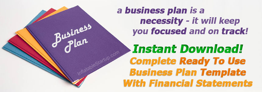 business plan for an Indoor Inflatable Business